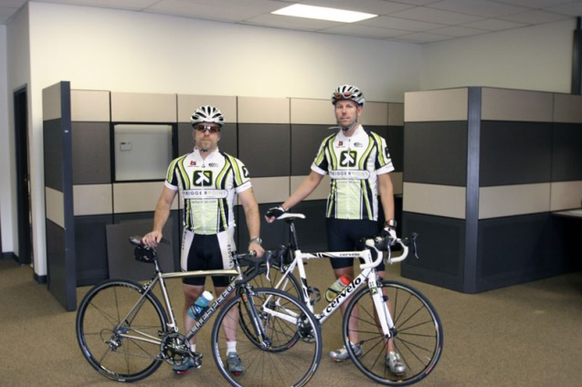 Cassidy and Steve in the Trigger Point Cycling Kits