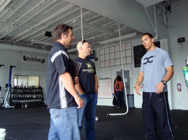Monte, Cassidy, and Jeremy chatting