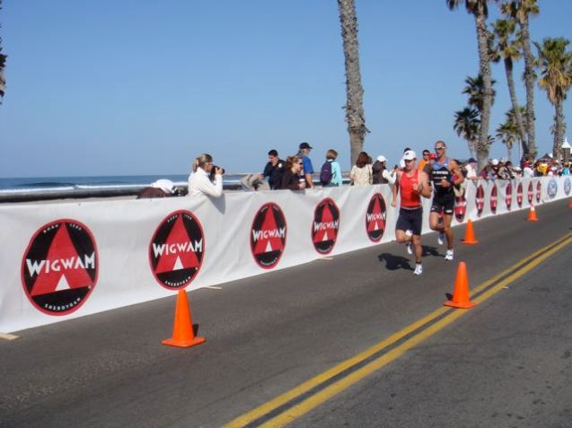 Watching the run portion of the race