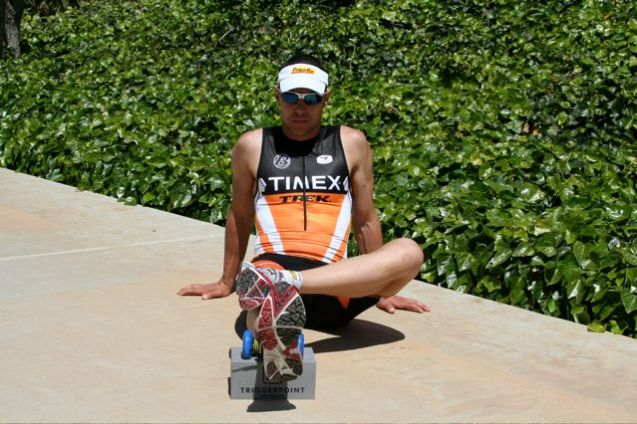 Timex athlete rolls out his soleus with our Footballer