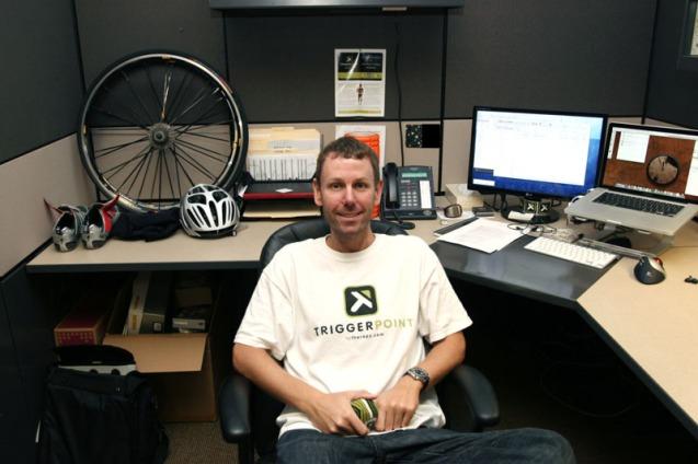 Steve sitting at his desk