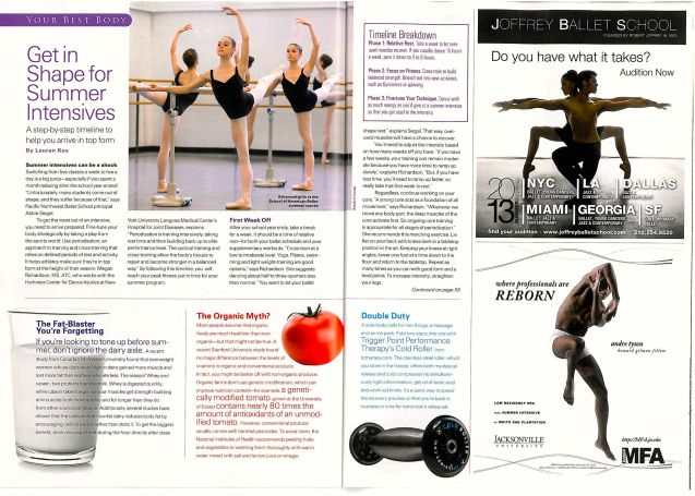 Cold Roller in Pointe Magazine