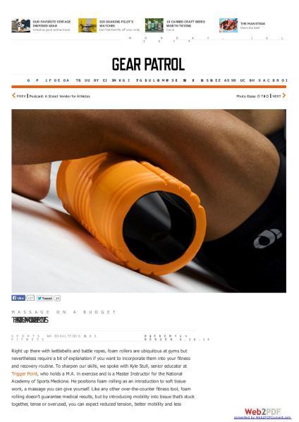 July 2014 How To Foam Roll GearPartol.com